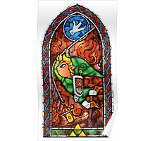 LoZ Grappling Hook Stained Glass Poster