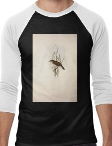 John Gould The Birds of Europe 1837 V1 V5 102 Reed Locustelle Men's Baseball ¾ T-Shirt