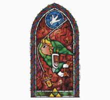LoZ Grappling Hook Stained Glass One Piece - Long Sleeve