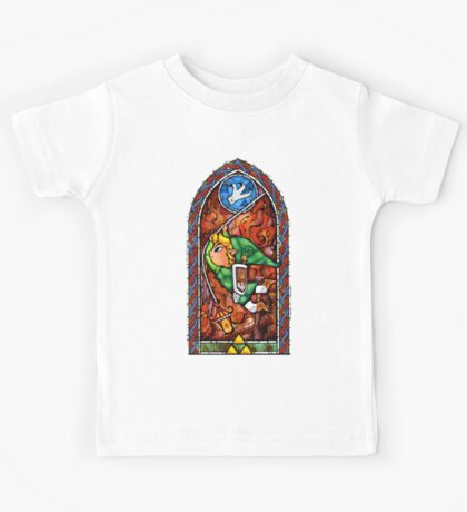 LoZ Grappling Hook Stained Glass Kids Tee