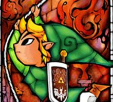 LoZ Grappling Hook Stained Glass Sticker