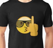 Emoji Shirt :) Sunglasses Middle Finger - New Emojis App Unisex T-Shirt