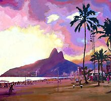 Ipanema Sunset (Por do Sol) by Douglas Simonson