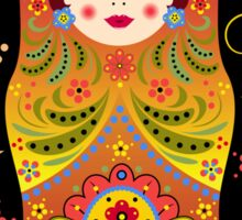 russian doll matryoshka Sticker