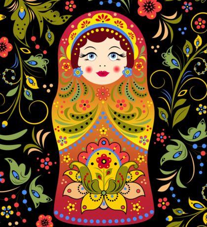 russian doll matryoshka Sticker