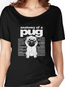 Anatomy of a Pug Funny Tee T-Shirts Women's Relaxed Fit T-Shirt