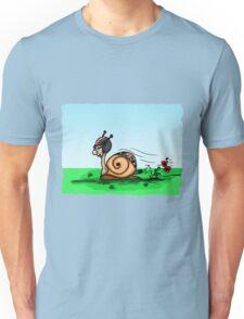 Racing snail Unisex T-Shirt