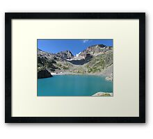 Beautiful nature mountains lake Framed Print