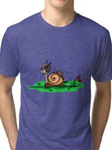 Racing snail Tri-blend T-Shirt
