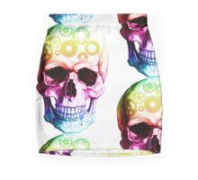 Vampire skull in colour Mini Skirt