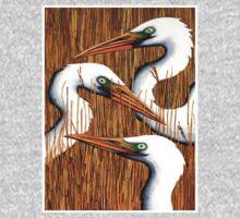 Three Egrets One Piece - Short Sleeve