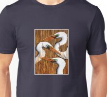 Three Egrets Unisex T-Shirt