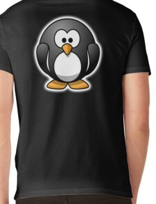 Penguin, Cartoon, Mens V-Neck T-Shirt