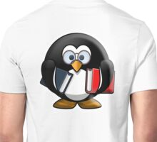 Bookworm Penguin, Cartoon Unisex T-Shirt