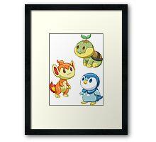 Pokemon Starters - Gen 4 Framed Print