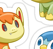Pokemon Starters - Gen 4 Sticker