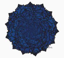 Fractal Sea Shells Blue One Piece - Long Sleeve