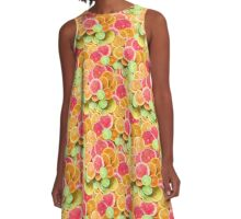Citrus Slice of Life A-Line Dress