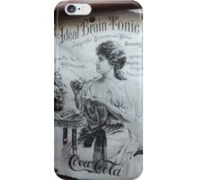 """The Ideal Brain Tonic"" - Vintage Coca-Cola Advertisement iPhone Case/Skin"