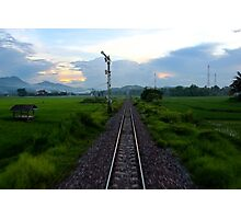 At the Tail of the Train - Vietnam. Photographic Print