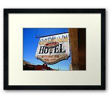 Route 66 - Oatman Hotel Framed Print