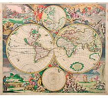 Mercator map Photographic Print