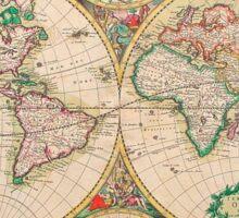 Mercator map Sticker