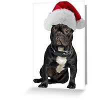 French Bulldog Santa Claus Merry Christmas Greeting Card