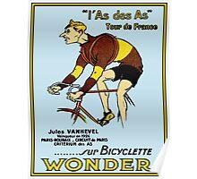 LE TOUR DE FRANCE; Vintage Bicycle Racing Print Poster