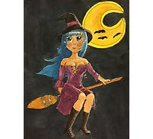 Blue- Haired Witch Photographic Print