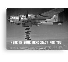 Here is some democracy for you Canvas Print