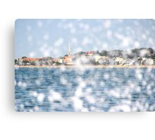 The City through the Water - Bay of Arcachon, France Canvas Print
