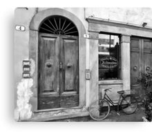 -Le Chiacchere Snackbar - Lucca,  Italy(b&w) Canvas Print