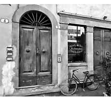 -Le Chiacchere Snackbar - Lucca,  Italy(b&w) Photographic Print