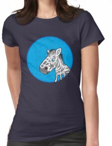 Zebra is Cute Womens Fitted T-Shirt