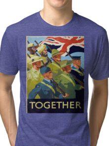 Vintage poster - Together Tri-blend T-Shirt