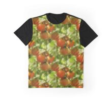 Garden Cherry Tomatoes Nature Pattern Graphic T-Shirt