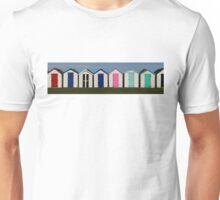 Holiday Beach Huts Unisex T-Shirt
