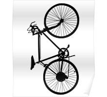 bicycle black Poster
