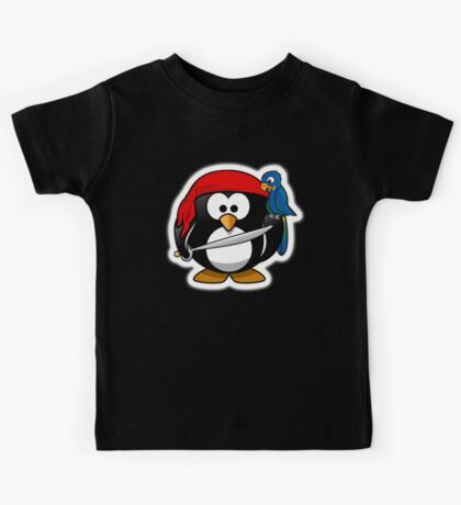Penguin, Pirate, Penguins of the Caribbean, Cartoon, fun Kids Tee