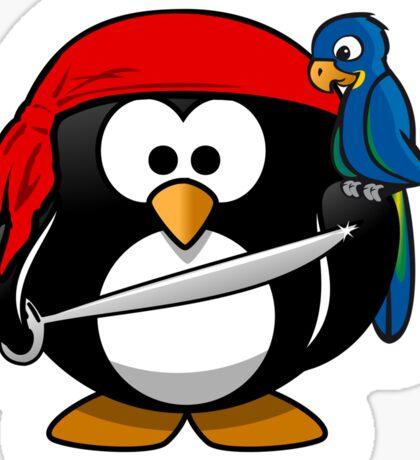 Penguin, Pirate, Penguins of the Caribbean, Cartoon, fun Sticker
