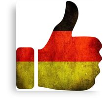 thumbs germany Canvas Print