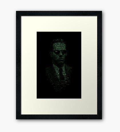 Agent Smith Framed Print