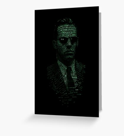 Agent Smith Greeting Card