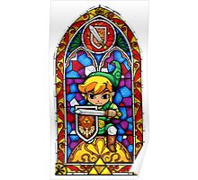 LoZ Shield Stained Glass Poster