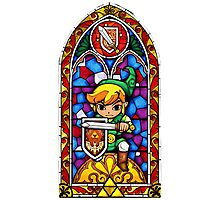 LoZ Shield Stained Glass Photographic Print