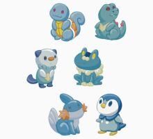 Pokemon Starters - Water Types by TipsyKipsy