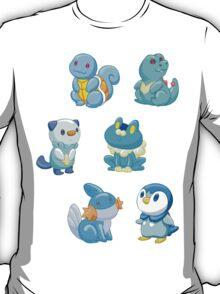 Pokemon Starters - Water Types T-Shirt