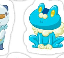 Pokemon Starters - Water Types Sticker