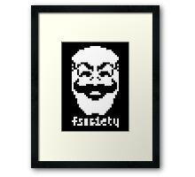 2-bit Pixel Fsociety Framed Print